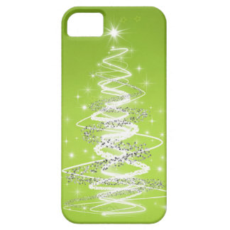 Elegant Christmas Tree Lime Green iPhone 5 Covers