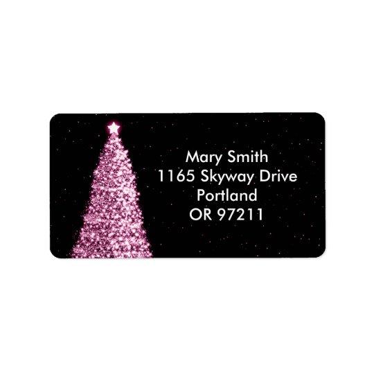 Elegant Christmas Tree Pink