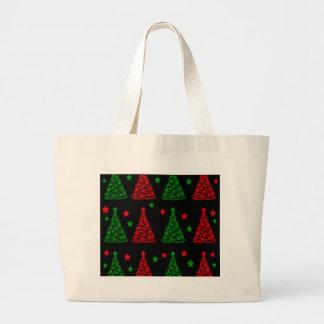 Elegant Christmas trees pattern Large Tote Bag