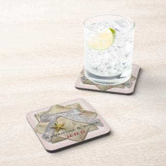 Elegant Christmas Wedding Gift Customizable Drink Coaster