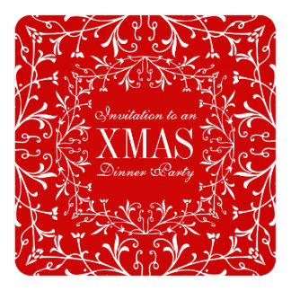 Elegant Christmas XMAS Dinner Dance Party Invites
