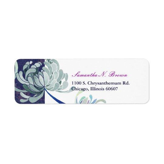 Elegant Chrysanthemum Flower Address Labels
