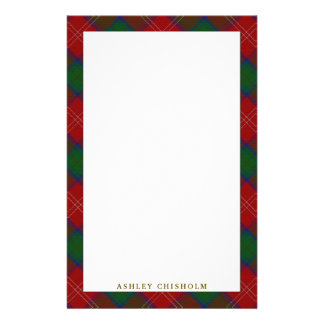 Elegant Clan Chisholm Tartan Plaid Stationery