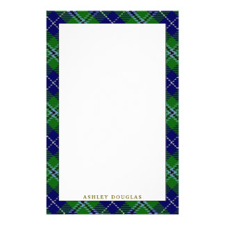 Elegant Clan Douglas Tartan Plaid Stationery