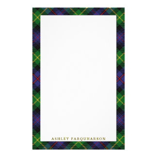 Elegant Clan Farquharson Tartan Plaid Stationery