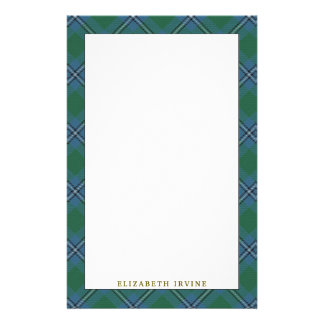 Elegant Clan Irvine Irwin Tartan Plaid Stationery