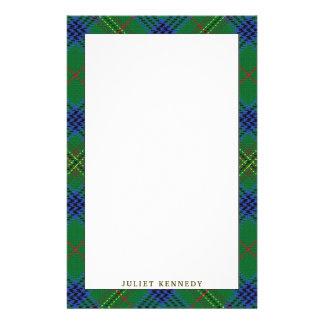 Elegant Clan Kennedy Tartan Plaid Stationery Paper