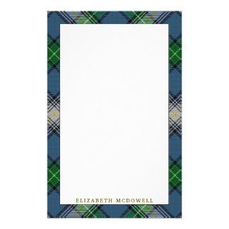 Elegant Clan MacDowall Tartan Plaid Stationery