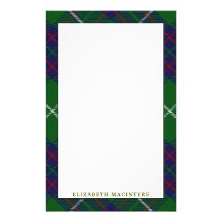 Elegant Clan MacIntyre Tartan Plaid Stationery
