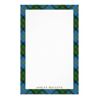 Elegant Clan MacLeod of Harris Tartan Plaid Stationery