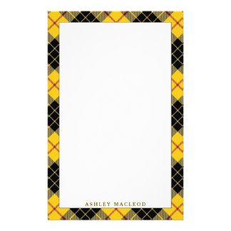Elegant Clan MacLeod of Lewis Tartan Plaid Stationery