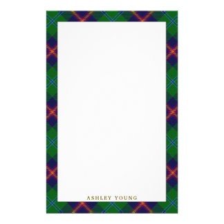 Elegant Clan Young Tartan Plaid Stationery