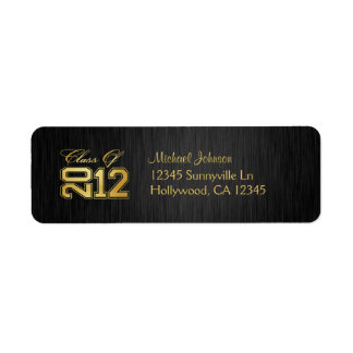Elegant Class of 2011 (blk / gold) Return Address Label