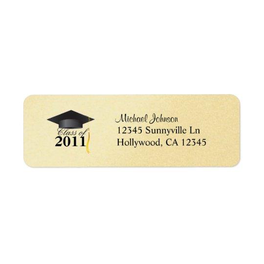 Elegant Class of 2011 Gold