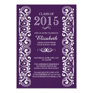 Elegant Class of 2015 Graduation Party Invitation
