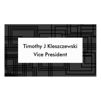 Elegant classic Black Squares Business Card