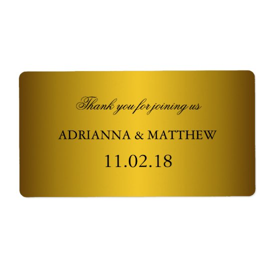 Elegant Classic Gold Wedding Wine Labels2