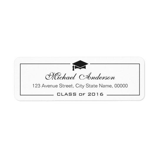 Elegant Classic Graduation Cap Grad Graduate