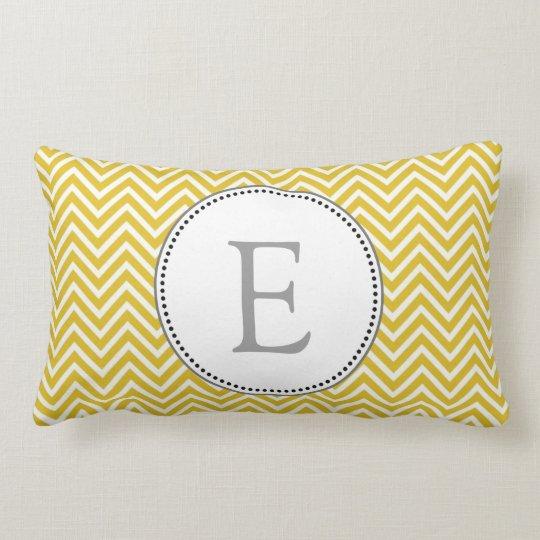 Elegant, classic sunny yellow chevron zigzag lumbar pillow