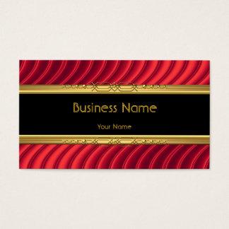 Elegant Classy Black Yellow Gold Deep Red Business Card