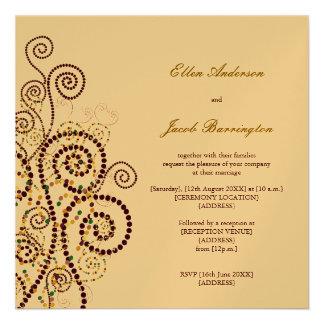 Elegant Classy Boho Purple Spirals Wedding Invite