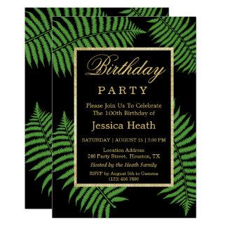 Elegant Classy Bracken 100th Birthday Card