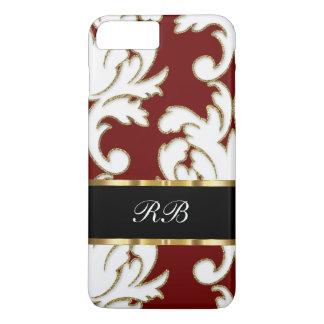 Elegant Classy Damask Pattern Monogram Case-Mate iPhone Case