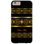 Elegant Classy Gold Black Diamond Barely There iPhone 6 Plus Case