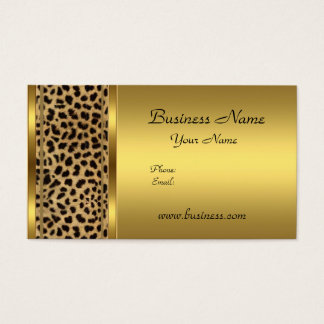 Custom gold leopard print business cards zazzle elegant classy gold black leopard animal print business card colourmoves Image collections