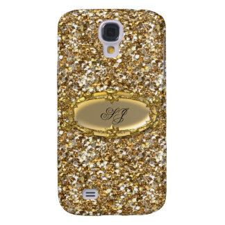 Elegant Classy Gold Glitter Look Monogram