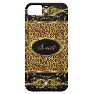 Elegant Classy Gold Leopard Black iPhone 5 Case