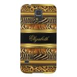 Elegant Classy Gold Mixed Animal Samsung Galaxy S5 Galaxy S5 Cover
