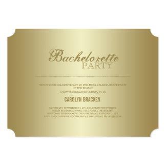Elegant Classy | Gold Ticket | Bachelorette Invite