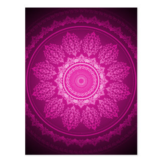 Elegant Classy Pink Swirl Decorative Pattern Postcard