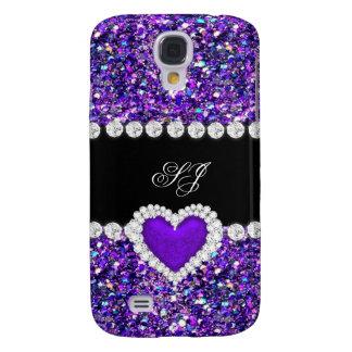 Elegant Classy Purple Black Glitter Look 2
