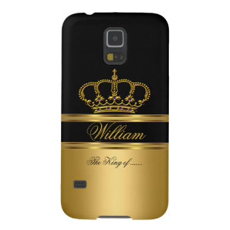 Elegant Classy Royal King Gold Black Crown 2a Cases For Galaxy S5