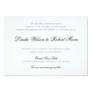 Elegant Classy Script Vintage Wedding Invitation