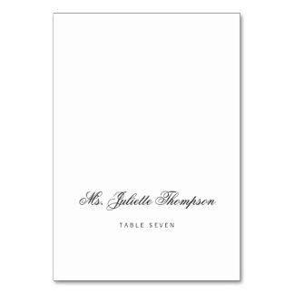 Elegant Classy Script Vintage Wedding Place Card