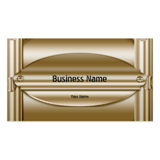 Elegant Classy Sepia Gold Metal Chrome Look Business Cards
