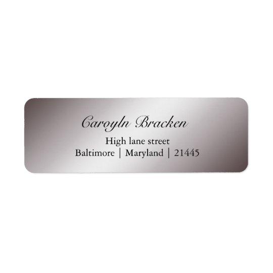 Elegant Classy Sheen Silver Wedding Return Address Label
