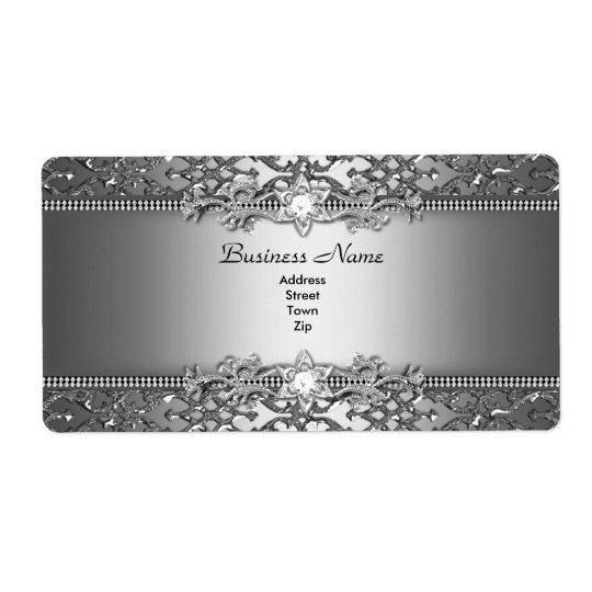 Elegant Classy Silver Damask Embossed Jewel
