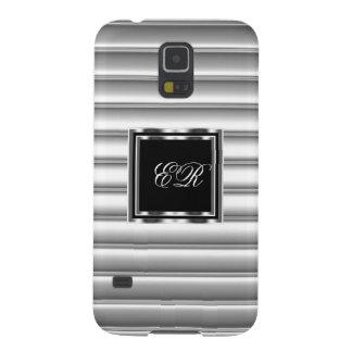 Elegant Classy Silver Metal Look 2 S5 Galaxy S5 Cases