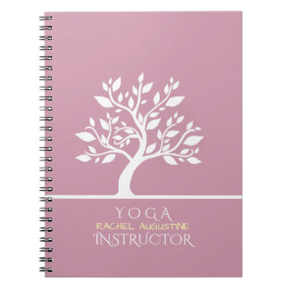 Elegant Classy Tree YOGA Studio Massage Therapy Notebooks
