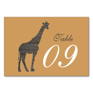 Elegant Clay Giraffe Wedding Card