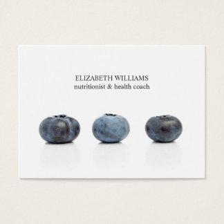 Elegant Clean Blueberry Nutritionist Health Coach Business Card