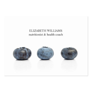 Elegant Clean Blueberry Nutritionist Health Coach Large Business Card