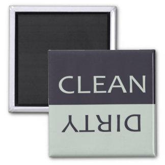 Elegant Clean Dirty Black and Gray Dishwasher Magnet