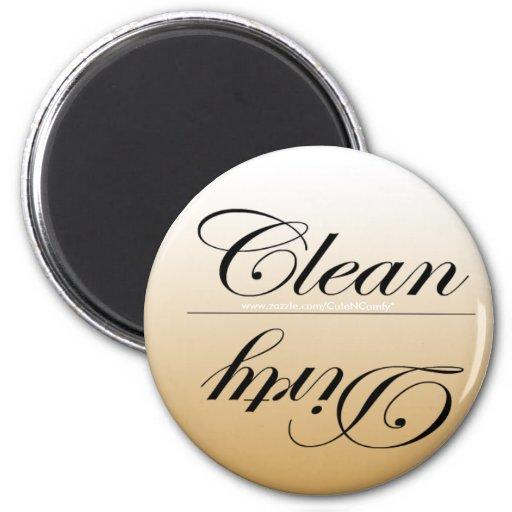 Elegant Clean/Dirty Dishwasher Magnets