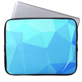 Elegant & Clean Geometric Designs - Aqua Ring Laptop Sleeve