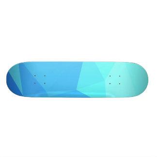 Elegant & Clean Geometric Designs - Aqua Ring Skate Boards